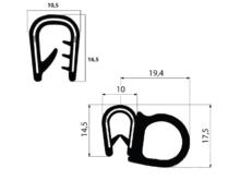 Profily Pireli s kovovou výztuží